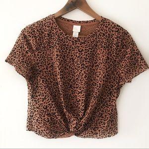H & M Leopard Print Top